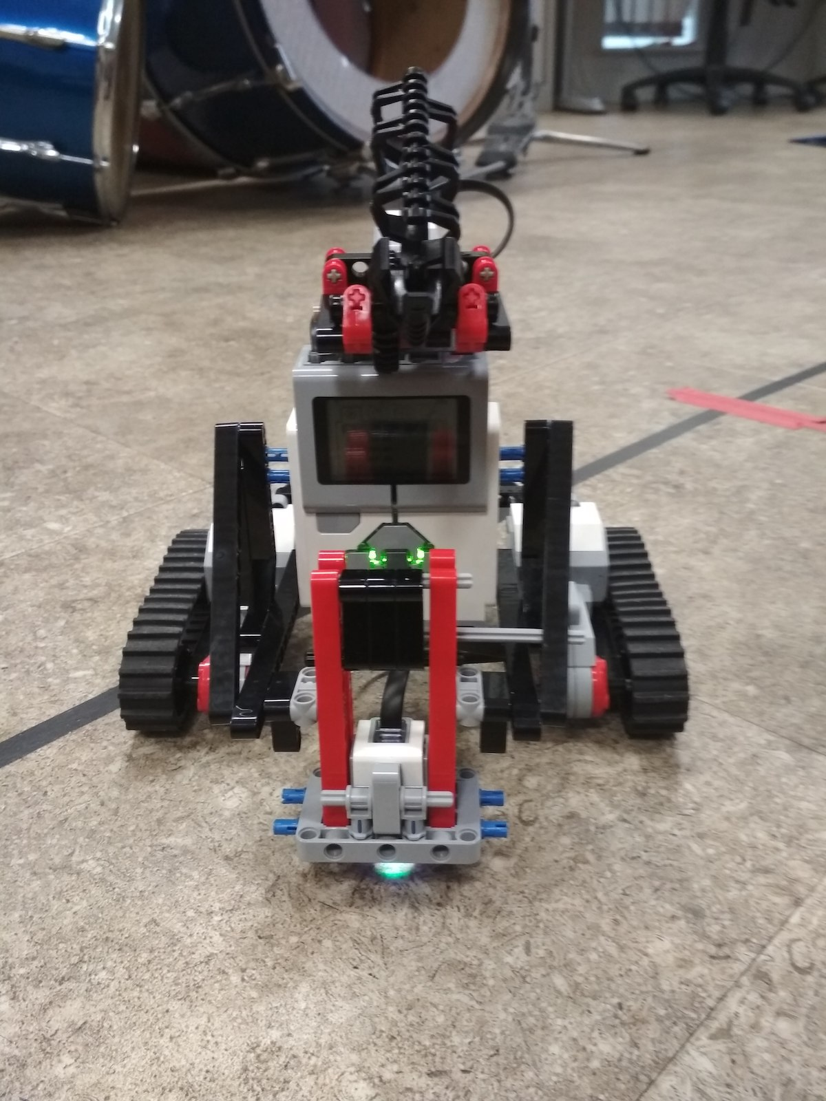 Lego mindstorms robot on the floor