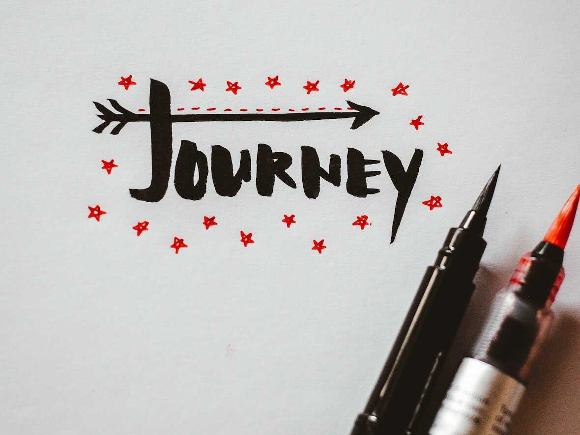 Paper featuring the word Journey