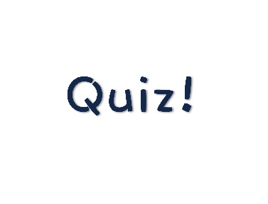 The word Quiz in blue