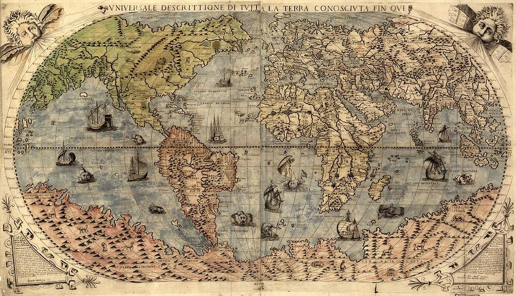 A map of the world from 1565