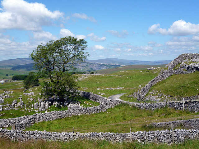 Dry stone walls in the Lake District National Park