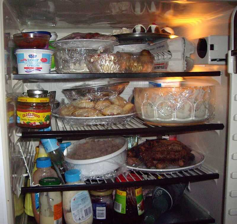 The contents of a full fridge